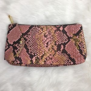 Estee Lauder Pink Gold Animal Print Make Up Clutch